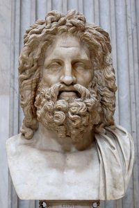 """Zeus of Otricoli"""". Marble, Roman copy after a Greek original from the 4th century. From the villa of Cassius near Tivoli."""