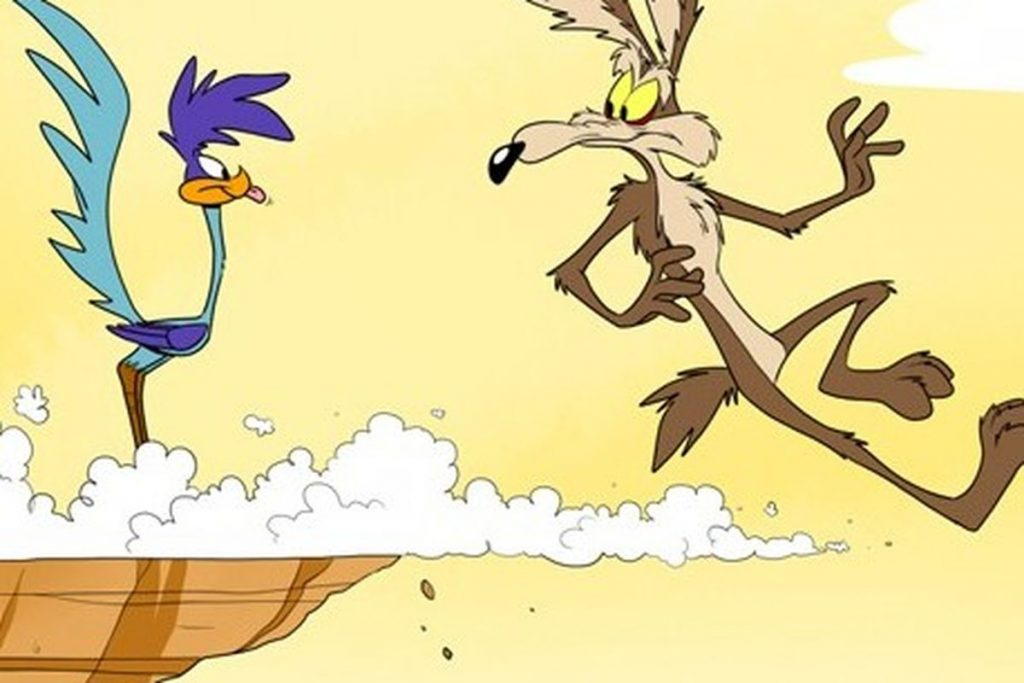 Wile E. Coyote and the Roadrunner.